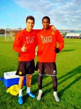Manucho y Cristiano Ronaldo