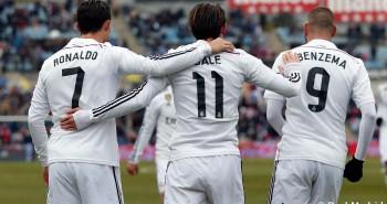 Cristiano Ronaldo, Gareth Bale y Benzema