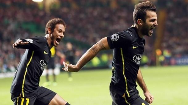 Neymar y Cesc - Celtic
